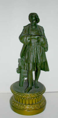 Columbus figurine (42 cm high) in the collection of the author of this website